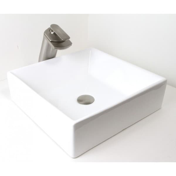 16 5 European Style Rectangular Shape Porcelain Ceramic Bathroom Vessel Sink