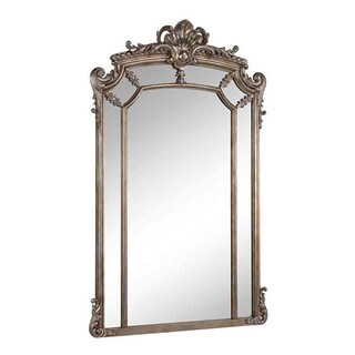 Somette Antique Silver Framed Mirror