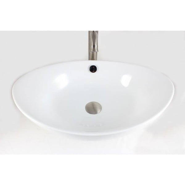 "23"" European Style Oval Shape Porcelain Ceramic Bathroom Vessel Sink"