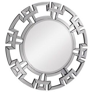 Somette Modern Round Clear Mirror