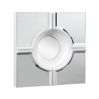 Somette Modern Square White Lacquer Mirror