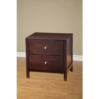 Espresso Manhattan 2 Drawer Nightstand Free Shipping Today 17276292
