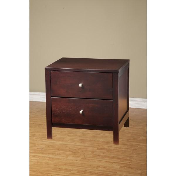 Alpine Furniture Solana 2-drawer Nightstand