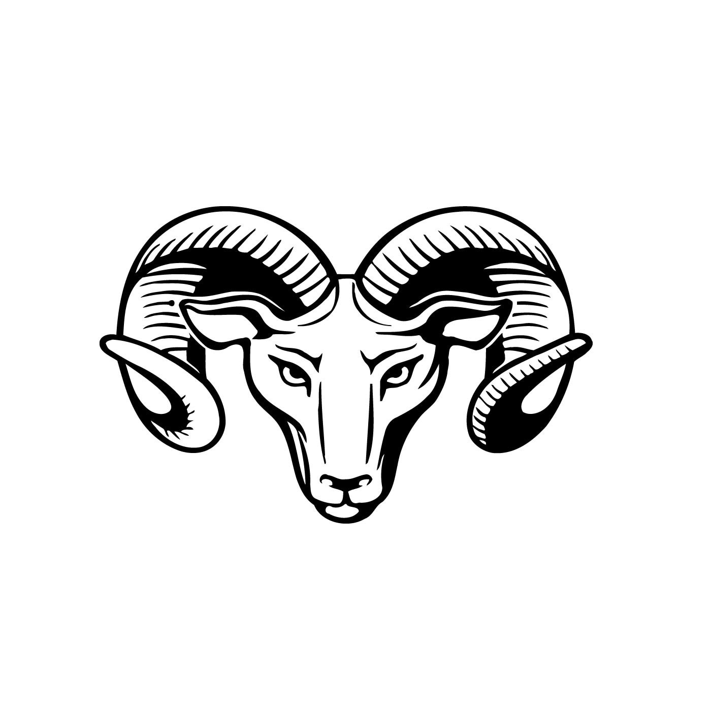 Big Horn Sheep Sticker Decal Home Office Dorm Kitchen Wall Art Tablet Cell CPU