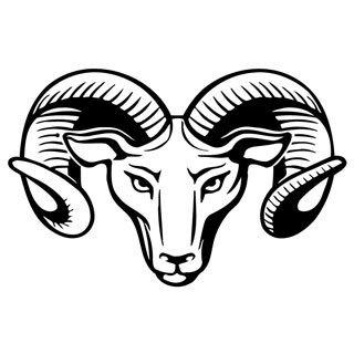 Ram Horns Vinyl Wall Art