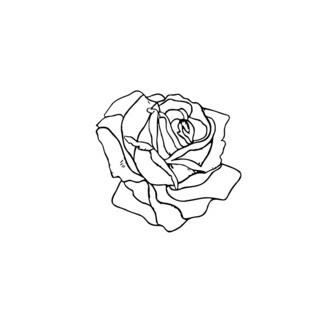 Grown Rose Flower Head Vinyl Wall Art