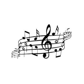 Musical Notes Music Vinyl Wall Art