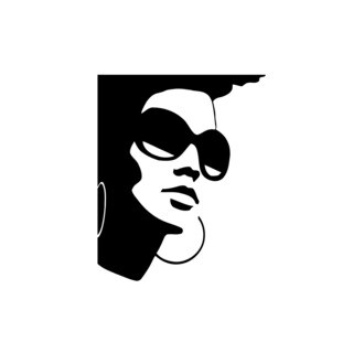 Cool Girl In Glasses Poster Vinyl Wall Art