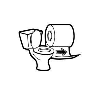 Funny Toilet Sign Vinyl Wall Art