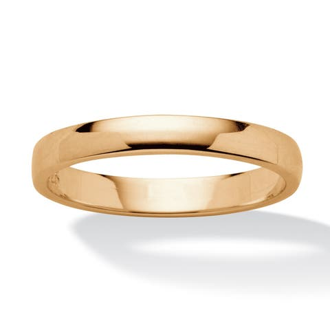 Wedding Band in 18k Gold over Sterling Silver Tailored