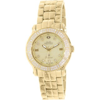 Swiss Precimax Women's Tribeca Diamond SP13329 Gold Stainless Steel Mother-Of-Pearl Dial Swiss Quartz Watch
