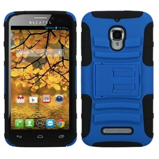 INSTEN White/ Black Astronoot Phone Case Cover for Alcatel 7024W/ One
