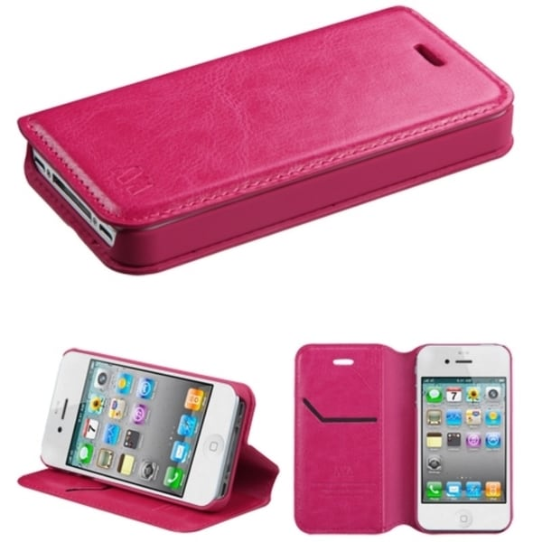 INSTEN Card Slots Colorful Book-style Leather Phone Case Cover for Apple iPhone 4/ 4s