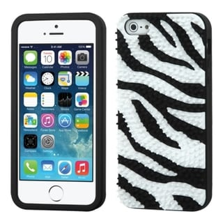 INSTEN Colorful Zebra Spike Soft Silicone Skin for Apple iPhone 5/ 5s/ SE