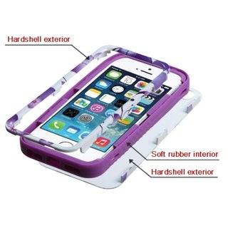 INSTEN High Impact Dual Layer Hybrid Phone Case Cover for Apple iPhone 5/ 5s/ SE