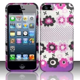 INSTEN Rubberized Design Plastic Hard Plastic Protector Phone Case Cover for Apple iPhone 5/ 5S/ SE