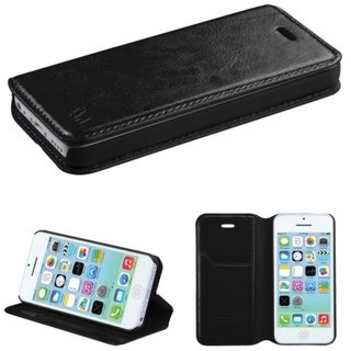 Insten Colorful Book-style Leather Phone Case with Card Slot for Apple iPhone 5C