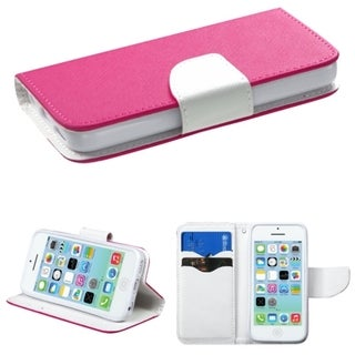 INSTEN Card Slots Colorful Book-style Leather Phone Case Cover for Apple iPhone 5C