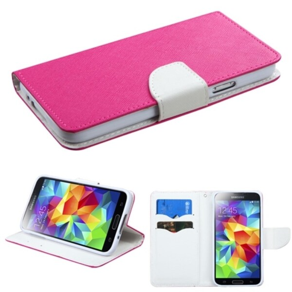 INSTEN Card Slots Colorful Book-style Leather Phone Case Cover for Samsung Galaxy S5