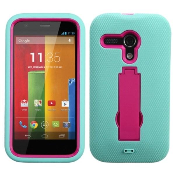 INSTEN High Impact Dual Layer Hybrid Phone Case Cover for Motorola Moto G