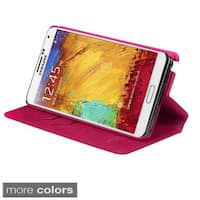 INSTEN Card Slots Colorful Leather Phone Case Cover for Samsung N900A Galaxy Note 3