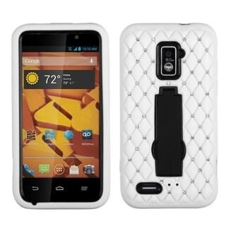 INSTEN Diamonds Stand Dual Layer Hybrid Phone Case Cover for ZTE Warp LTE N9510