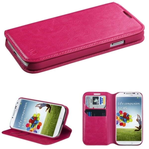 INSTEN Card Slots Colorful Book-style Leather Phone Case Cover for Samsung Galaxy S4