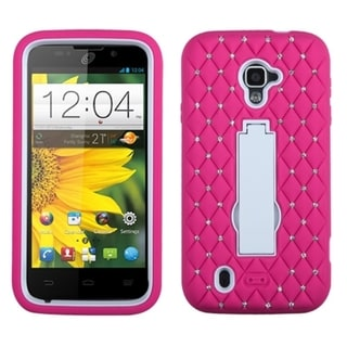 INSTEN Diamonds Stand Dual Layer Hybrid Phone Case Cover for ZTE Majesty Z796c, Source N9511