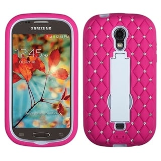 INSTEN Diamonds Stand Dual Layer Hybrid Phone Case Cover for Samsung Galaxy Light T399