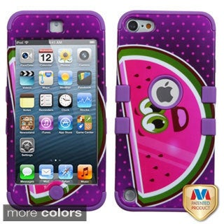 Insten Pink/ White Spring Flowers Tuff Hard PC/ Silicone Dual Layer Hybrid Glossy Case Cover For Apple iPod Touch 5th/ 6th Gen