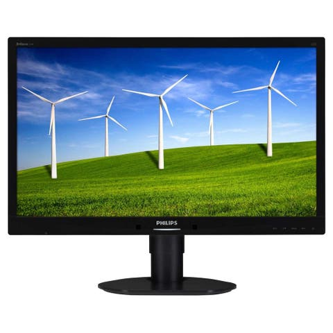 "Philips Brilliance 241B4LPYCB 24"" Full HD LED LCD Monitor - 16:9 - Textured Black"