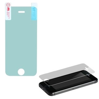 INSTEN Reinforced Hard Plastic Tempered Glass Screen Protector for Apple iPhone 5/ 5C/ 5S/ SE