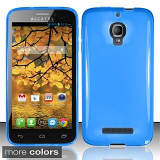INSTEN TPU Gel Rubber Candy Skin Phone Case Cover for Alcatel One Touch Fierce 7024T