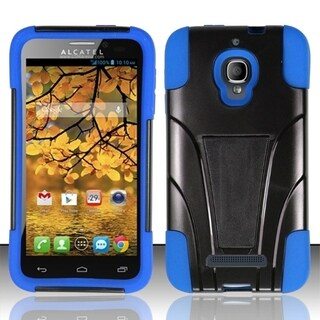 INSTEN Kickstand Dual Layer Hybrid Phone Case Cover for Alcatel One Touch Fierce 7024T