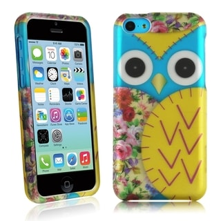 INSTEN Rubberized Hard Plastic Design Phone Case Cover for Apple iPhone 5C