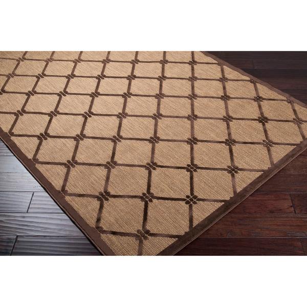 "Patti Transitional Geometric Indoor/ Outdoor Area Rug - 7'10"" x 10'8"""