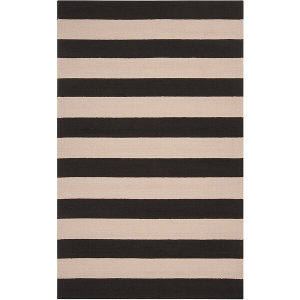 Hand-hooked Mandy Striped Casual Indoor/ Outdoor Area Rug - 8' x 10'