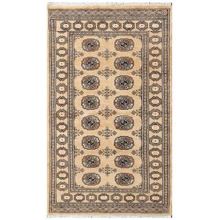 Herat Oriental Pakistani Hand-knotted Tribal Bokhara Wool Rug (3' x 5'2)
