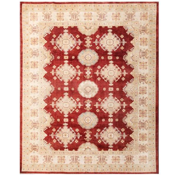 Herat Oriental Afghan Hand-knotted Kazak Wool Rug (5'2 x 7'3) - 5'2 x 7'3