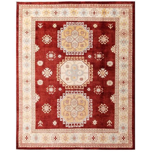 Handmade Herat Oriental Afghan Kazak Wool Rug - 5'2 x 7'3 (Afghanistan)