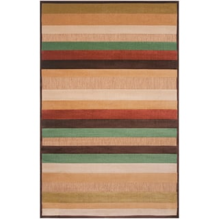 Meticulously Woven Pamela Transitional Striped Indoor/ Outdoor Area Rug (8'8 x 12')