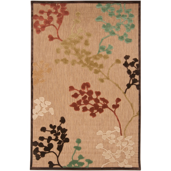 """Patsy Transitional Floral Indoor/ Outdoor Area Rug - 8'8"""" x 12'"""