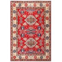 Handmade Herat Oriental Afghan Kazak Wool Rug  - 7'2 x 10'7 (Afghanistan)