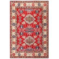 Herat Oriental Afghan Hand-knotted Kazak Wool Rug (7'2 x 10'7)