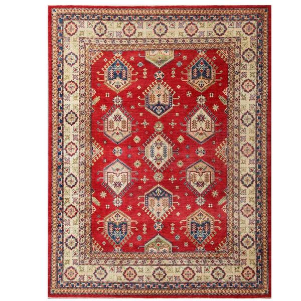 Handmade Herat Oriental Afghan Kazak Wool Rug (Afghanistan) - 7'10 x 10'3