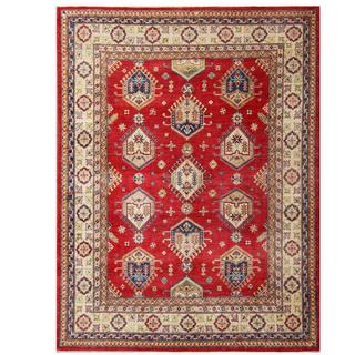 Herat Oriental Afghan Hand-knotted Kazak Wool Rug (7'10 x 10'3)