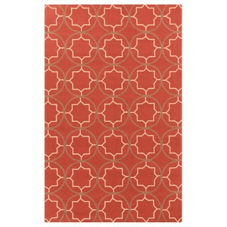 Hand-hooked Dolly Contemporary Geometric Indoor/ Outdoor Area Rug (9' x 12')