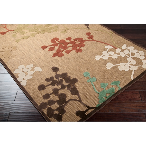"Patsy Transitional Floral Indoor/ Outdoor Area Rug - 3'9"" x 5'8"""