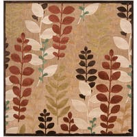 Pine Canopy Sierra Woven Floral Area Rug - 7'6' Square