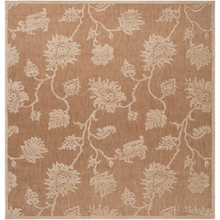 Meticulously Woven Jesse Transitional Floral Indoor/ Outdoor Area Rug (7'6 x 7'6)
